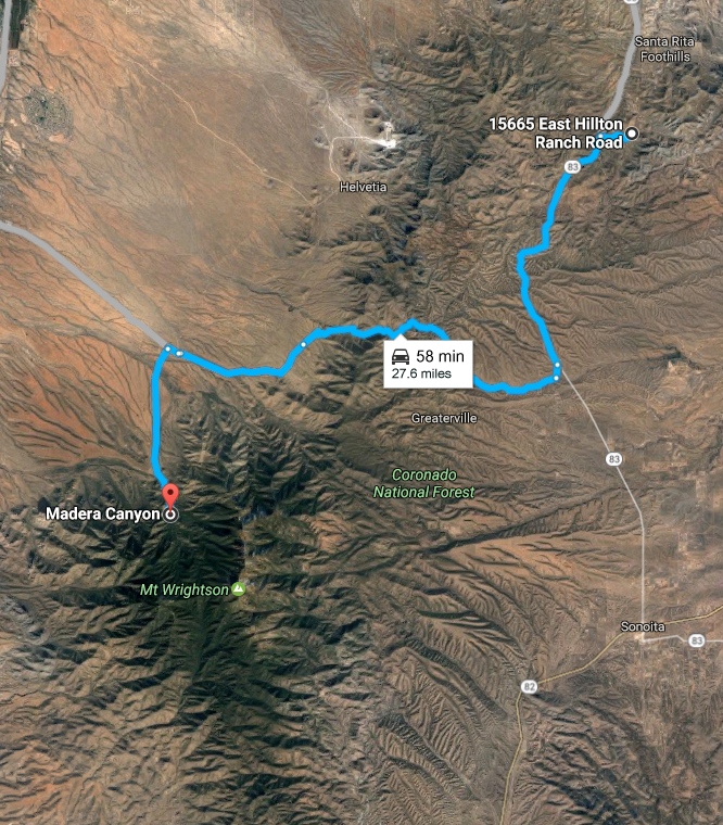 Directions To Madera Canyon, AZ